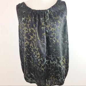 Ann Taylor Loft Sleeveless Blouse Top Shirt Size L